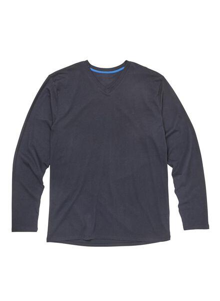 herenpyjama donkerblauw donkerblauw - 1000009288 - HEMA