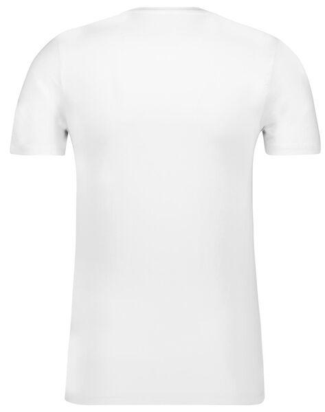 heren t-shirt slim fit o-hals bamboe wit wit - 1000010179 - HEMA