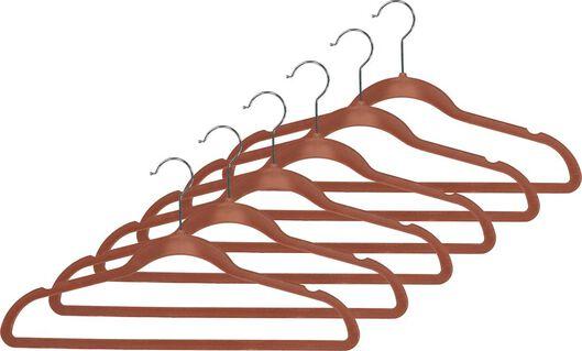 kledinghangers terra velours - 6 stuks - 39820503 - HEMA