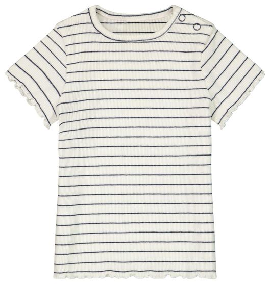 baby t-shirt rib gebroken wit gebroken wit - 1000023442 - HEMA