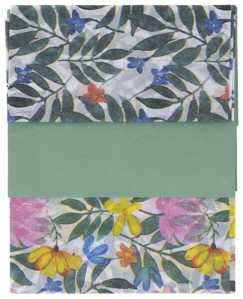 vloeipapier 70x50 bloemen 3 stuks - 14700465 - HEMA