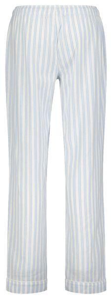 dames pyjamabroek flanel lichtblauw lichtblauw - 1000021690 - HEMA