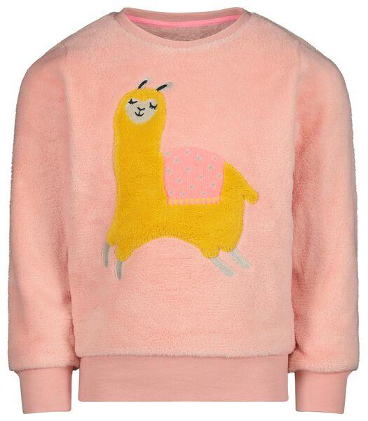 kinderpyjama alpaca lichtroze lichtroze - 1000022253 - HEMA