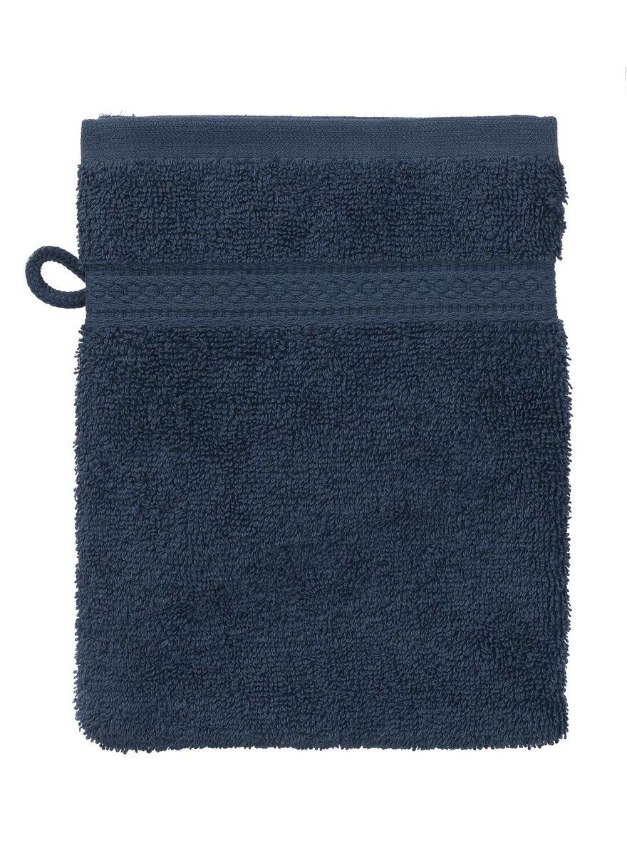 8 stuks. Washand - zware kwaliteit - denim uni