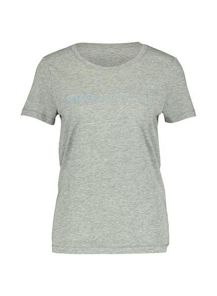 dames t-shirt lichtgrijs lichtgrijs - 1000014342 - HEMA
