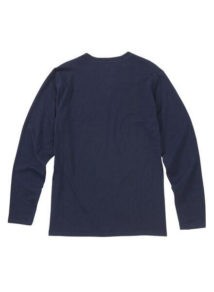 heren pyjama donkerblauw donkerblauw - 1000003013 - HEMA