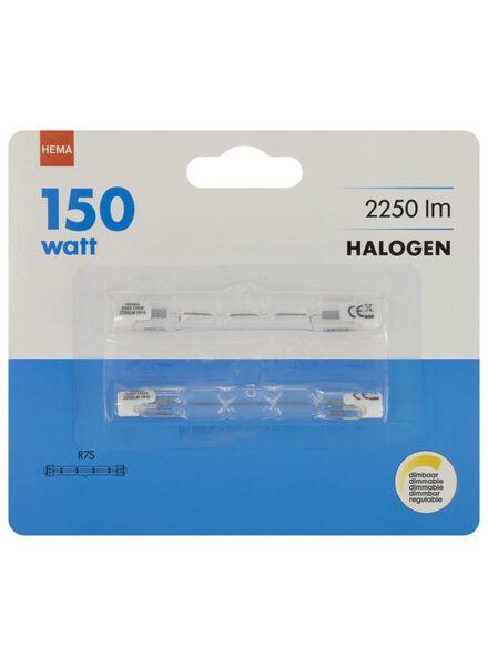halogeen 150W - 2250 lumen - staaflamp - helder - 2 stuks - 20020051 - HEMA