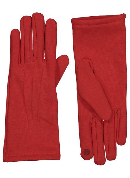 dameshandschoenen touchscreen rood rood - 1000015618 - HEMA