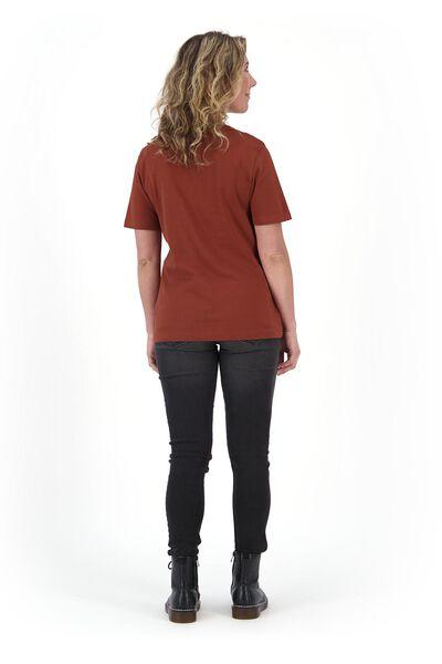dames t-shirt bruin L - 36339826 - HEMA