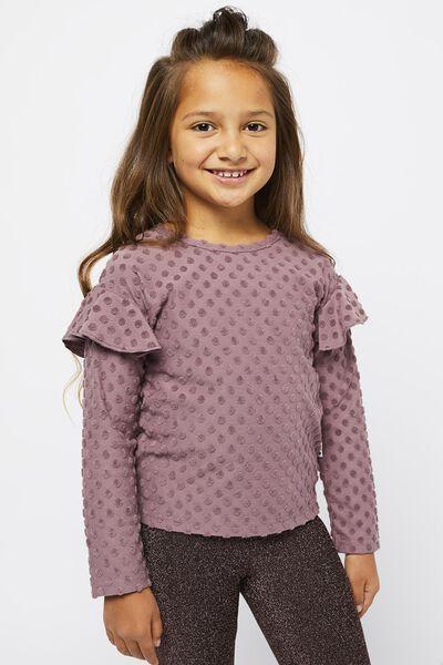 kinder t-shirt stippen paars - 1000021566 - HEMA