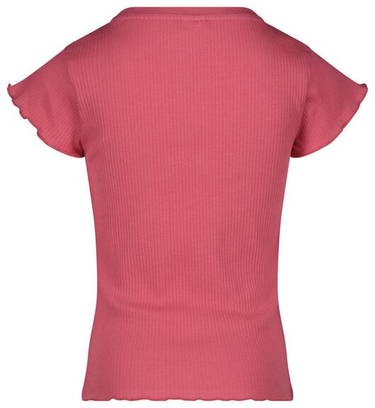 kinder t-shirt rib koraal - 1000023588 - HEMA