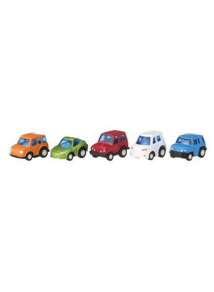 5-pak metalen race auto's - 15160108 - HEMA