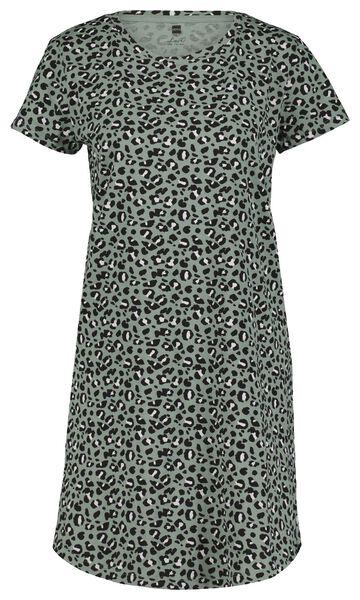 damesnachthemd animal groen M - 23400482 - HEMA