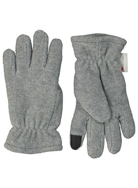 kinderhandschoenen touchscreen grijsmelange grijsmelange - 1000014463 - HEMA
