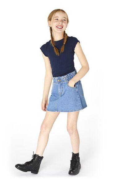 kinder t-shirt rib donkerblauw donkerblauw - 1000020224 - HEMA