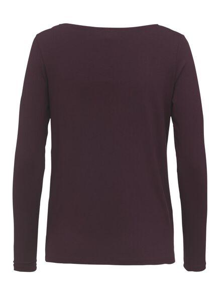 dames t-shirt wijnrood wijnrood - 1000011283 - HEMA