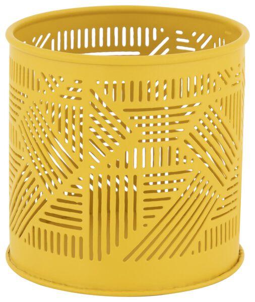 sfeerlichthouder Ø9x8.5 - metaal geel - 13322041 - HEMA