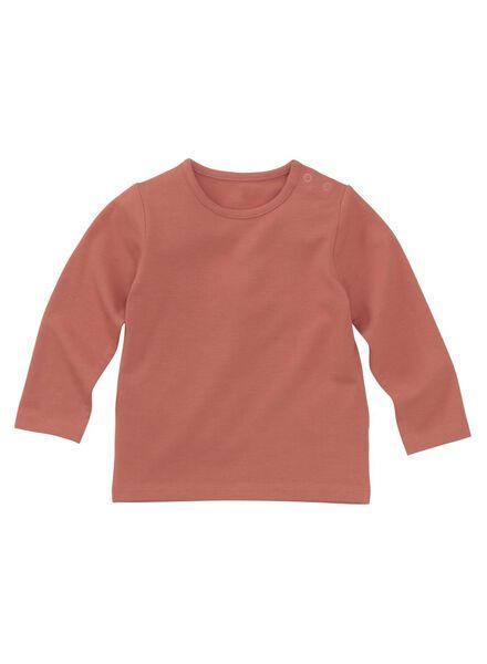 baby t-shirt bamboe oudroze oudroze - 1000011964 - HEMA