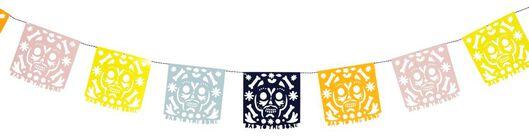 papieren slingers 250 cm - Dia de los Muertos - 25200543 - HEMA