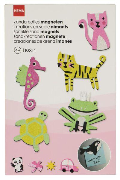 Zandcreaties magneten - 10 stuks