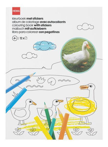 kleurboek met stickers - 15910078 - HEMA