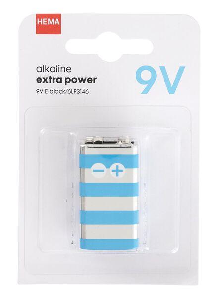 alkaline extra power 9V batterij - 41290264 - HEMA