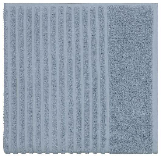 handdoek - zware kwaliteit - structuur middenblauw middenblauw - 1000020072 - HEMA
