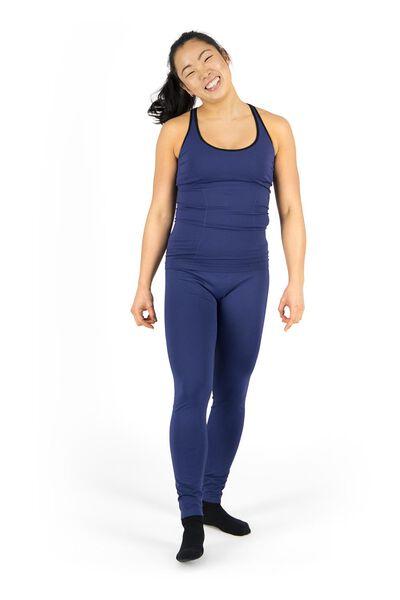 dames sportsinglet donkerblauw L - 36040228 - HEMA