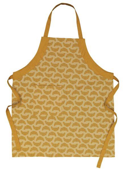 keukenschort - chambray katoen - okergeel croissant - 5400145 - HEMA