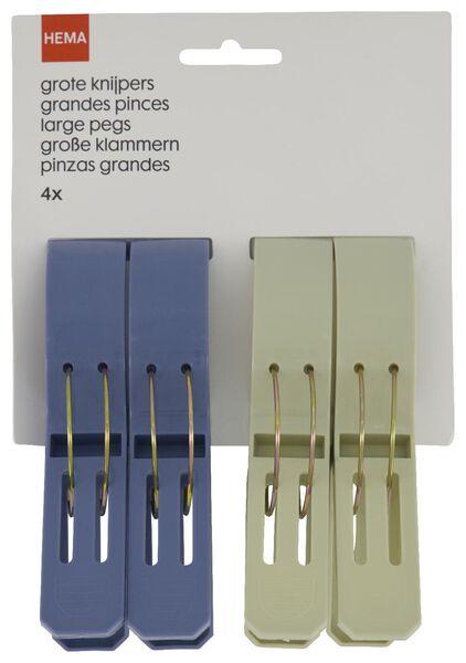 Knijpers 12cm - 4 stuks - in Wasknijpers