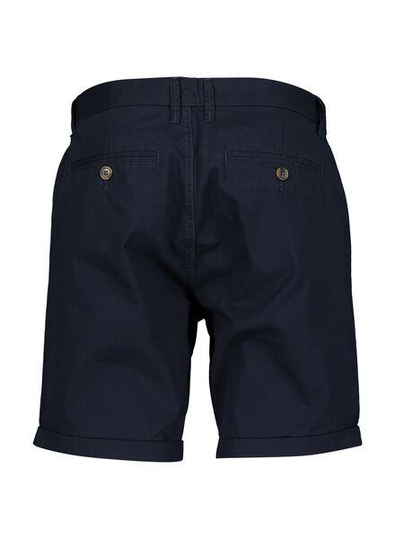 heren chino short donkerblauw donkerblauw - 1000013620 - HEMA