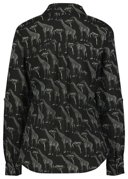 damesblouse giraf zwart M - 36258357 - HEMA