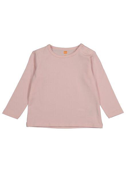 baby t-shirt met bamboe lichtroze 68 - 33096102 - HEMA