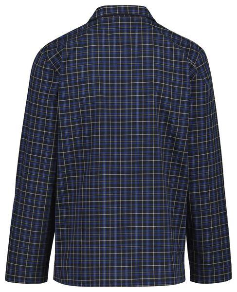 herenpyjama poplin donkerblauw donkerblauw - 1000018718 - HEMA