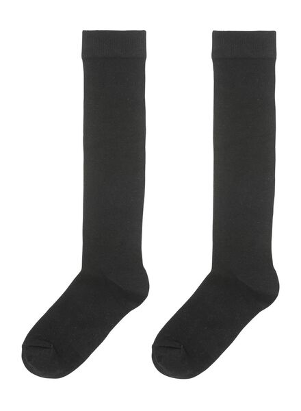 2-pak dames kniekousen zwart zwart - 1000001710 - HEMA