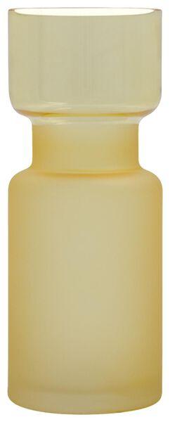 vaas Ø8x20 mat-glans glas geel - 13311079 - HEMA