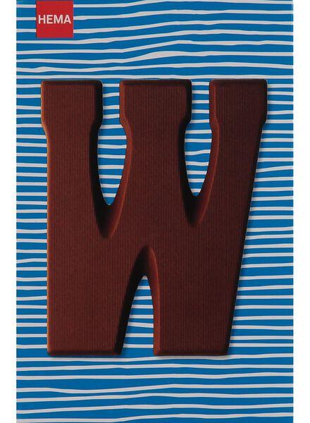 melkchocolade letter W - 10033019 - HEMA