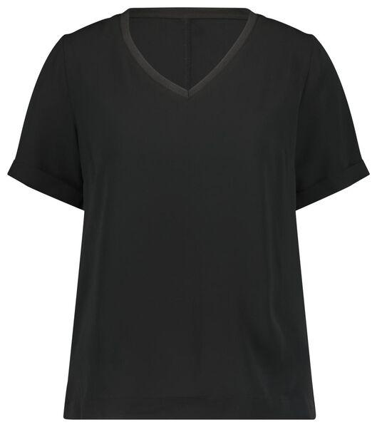 dames top recycled zwart XL - 36314799 - HEMA