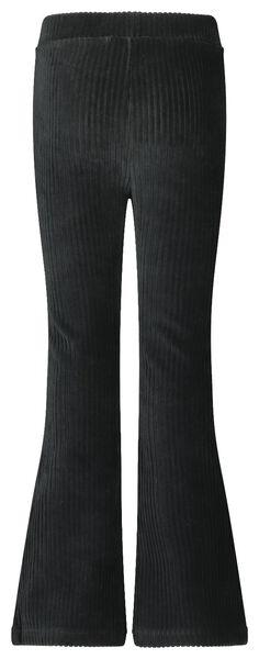 kinderbroek flared zwart 158/164 - 30840755 - HEMA