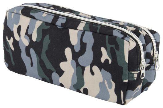 etui dubbele rits camouflage - 14502268 - HEMA