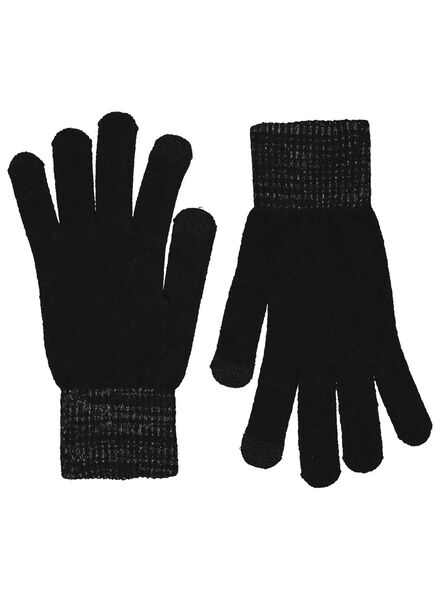 dameshandschoenen touchscreen zwart zwart - 1000015529 - HEMA
