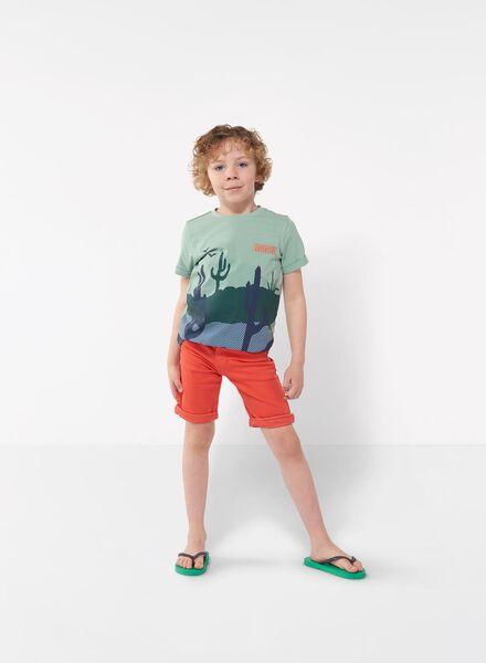 kindershort jogdenim rood rood - 1000012040 - HEMA
