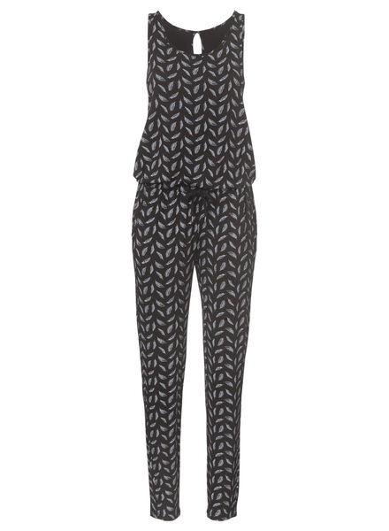dames jumpsuit zwart/wit zwart/wit - 1000004576 - HEMA