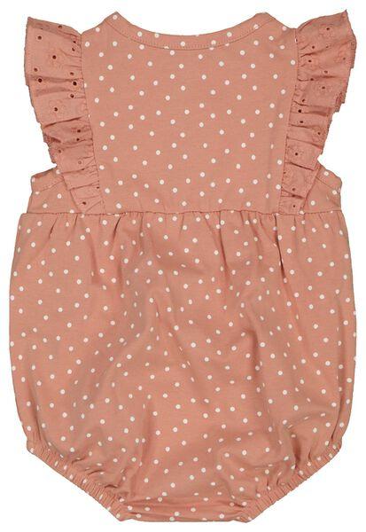 newborn jumpsuit stippen roze roze - 1000023571 - HEMA