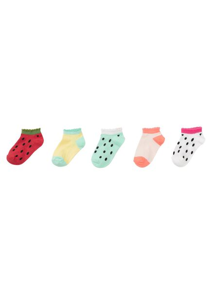 5-pak kindersokken multicolor multicolor - 1000011713 - HEMA