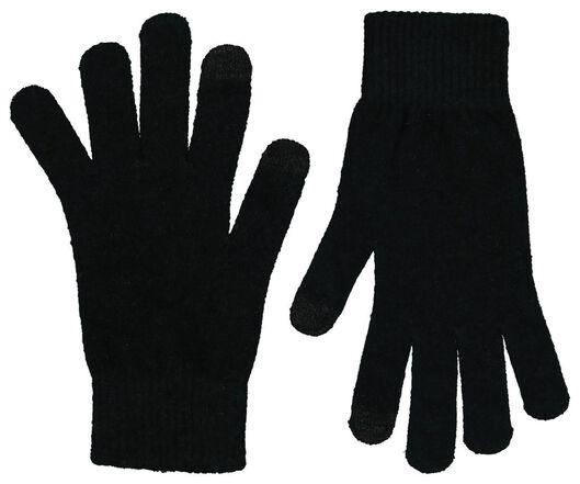 dameshandschoenen touchscreen zwart zwart - 1000020317 - HEMA