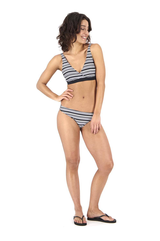 HEMA Dames Bikinislip Zwart/wit (zwart/wit)