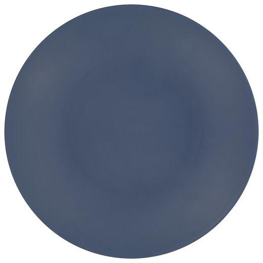 ontbijtbord Ø 21.5 melamine mat blauw - 80660045 - HEMA