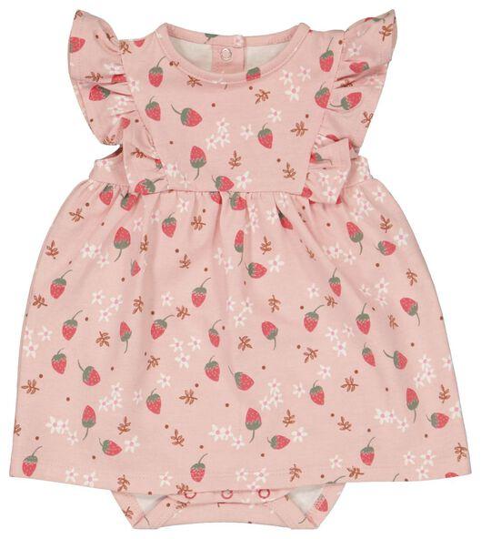 newborn romperjurk organic katoen stretch roze roze - 1000023562 - HEMA