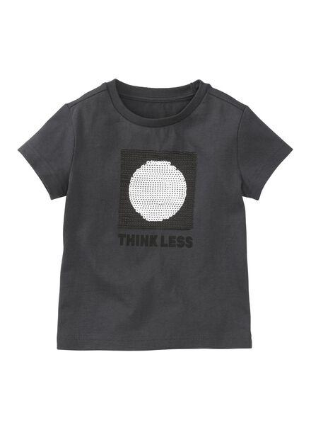 kinder t-shirt donkergrijs donkergrijs - 1000008318 - HEMA